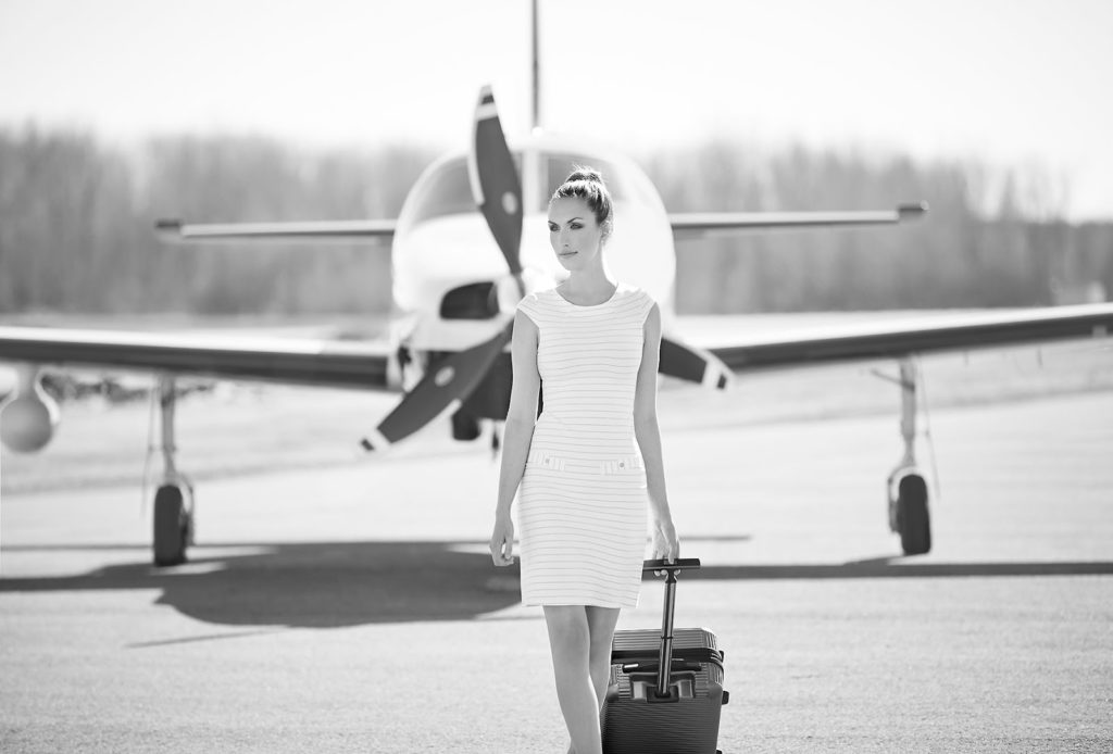Woman walks runway in stunning FIG dress