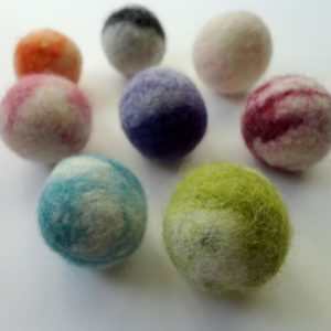 felted wool balls