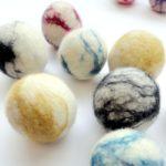 Jumbo felted wool balls 2