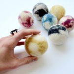Jumbo felted wool balls 1