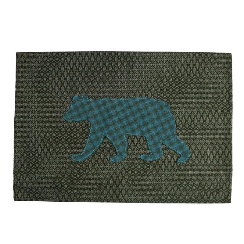 black bear western star pillow