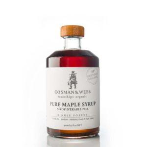 cosman & webb pure organic maple syrup