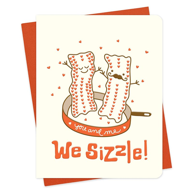 we sizzle bacon letterpress