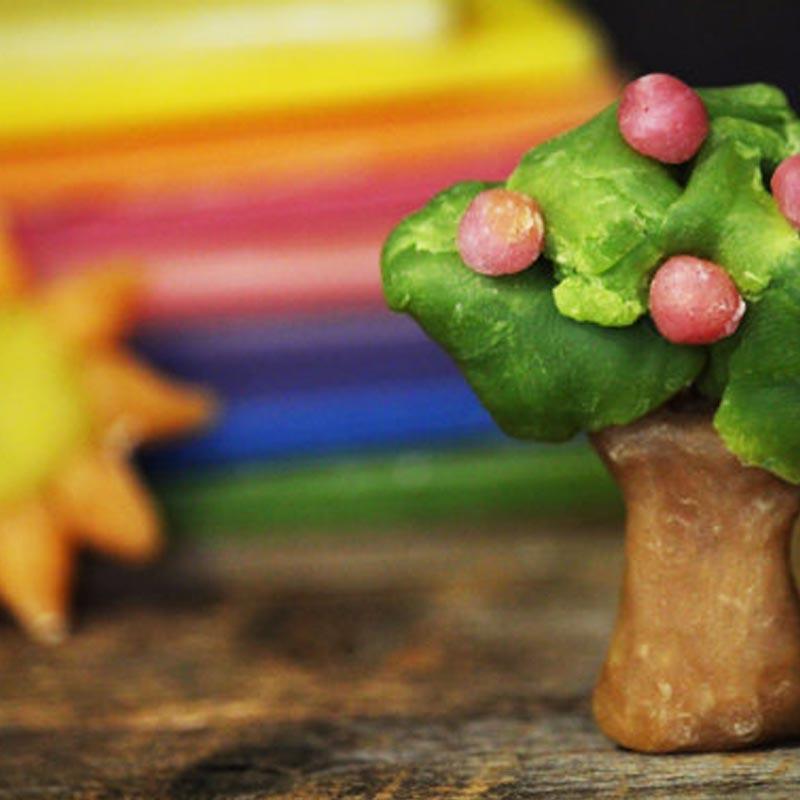 Beeswax Modeling Clay apple tree