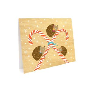 hedgies holiday card front