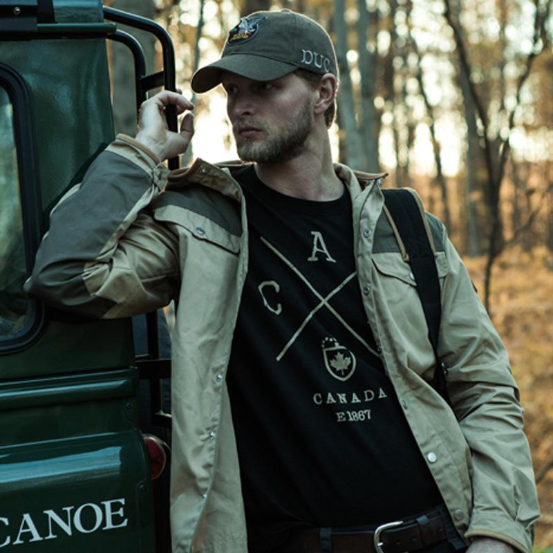Red Canoe Black Cross Canada T