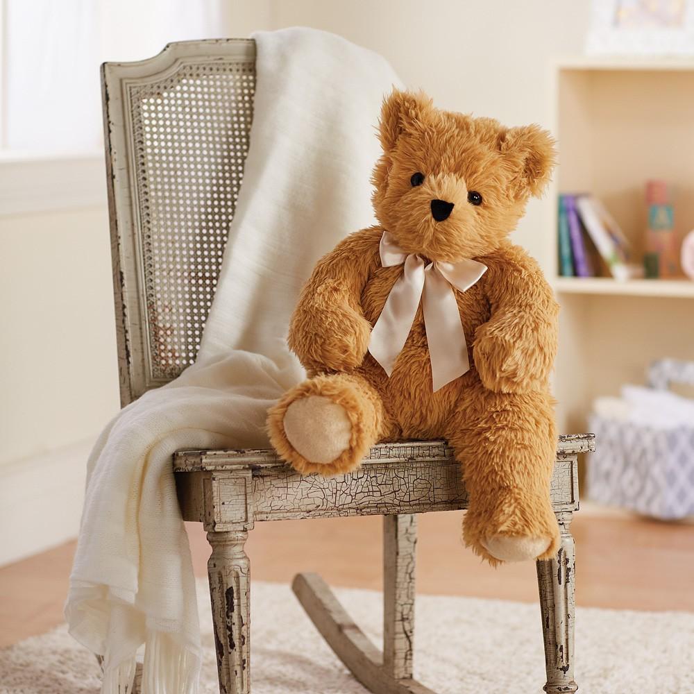 vermont teddy bear on chair