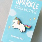 Baby Unicorn Pin on paper backing