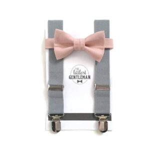Littlest Gentleman suspenders and bow tie