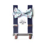 The Littlest Gentleman Suspenders Navy