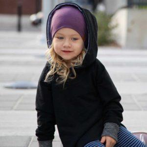 Lou Marine beanie and hoodie