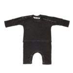Baby Terry Romper in vintage black