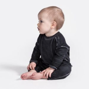Baby Terry Romper being worn