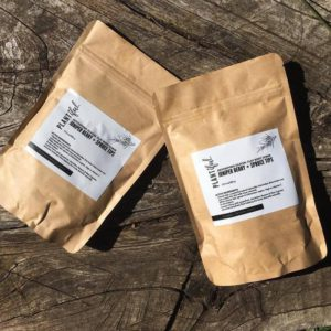 Detoxifying juniper berry body scrub
