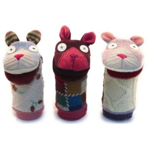 Cate and Levi Cat Hand Puppet trio
