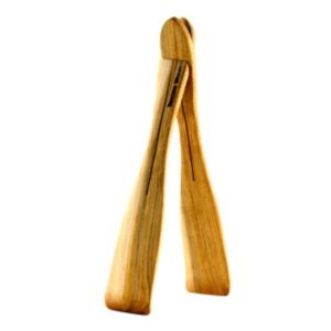 Imagine Wood ergonomic salad tongs