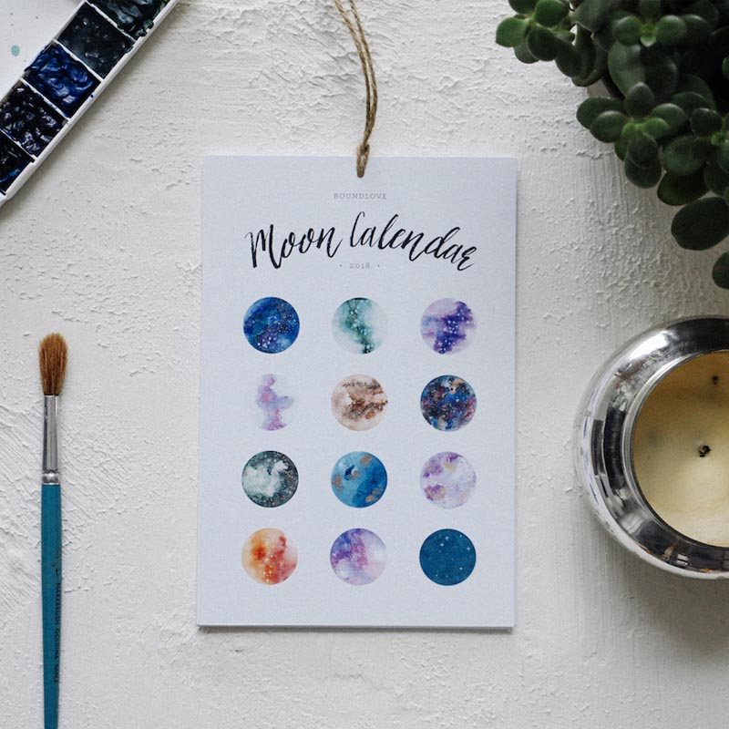 2018 Moon Calendar from Bound Love