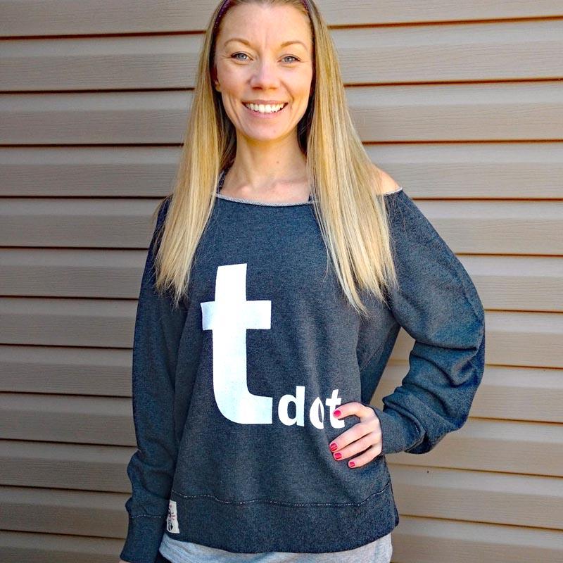 Tdot French Terry retro sweatshirt