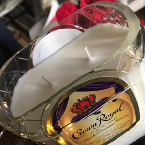small batch candle co crown royal bottle