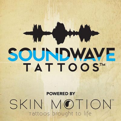 Soundwave Tattoos powered by Skin Motion