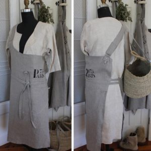 Linen european butcher style apron