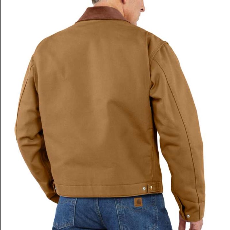 Back of Duck Detroit blanket lined jacket