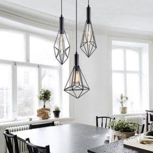Geometric modern minimalist cord light