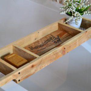Natural Recycled Wood Bath Tray