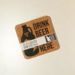 Drink Beer From Here 4 pack coasters