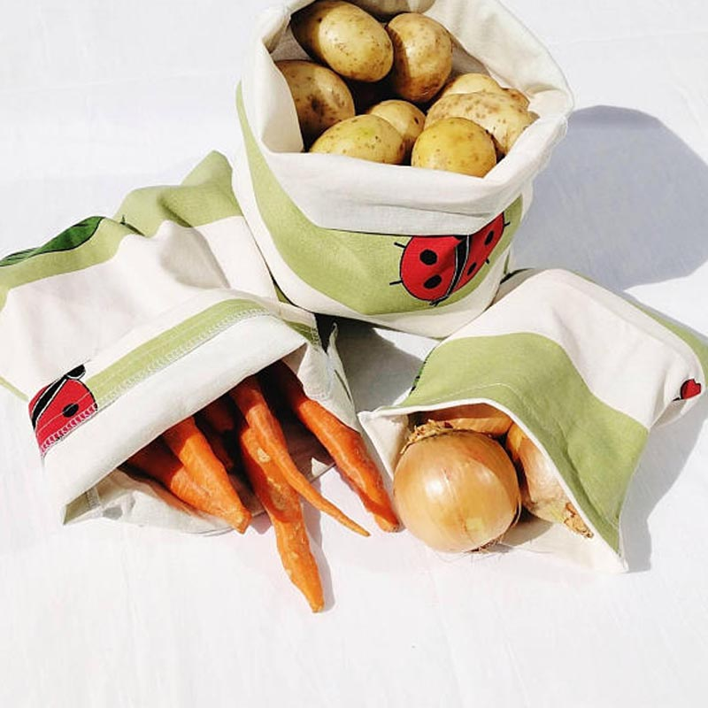 Reusable Produce Bags three sizes