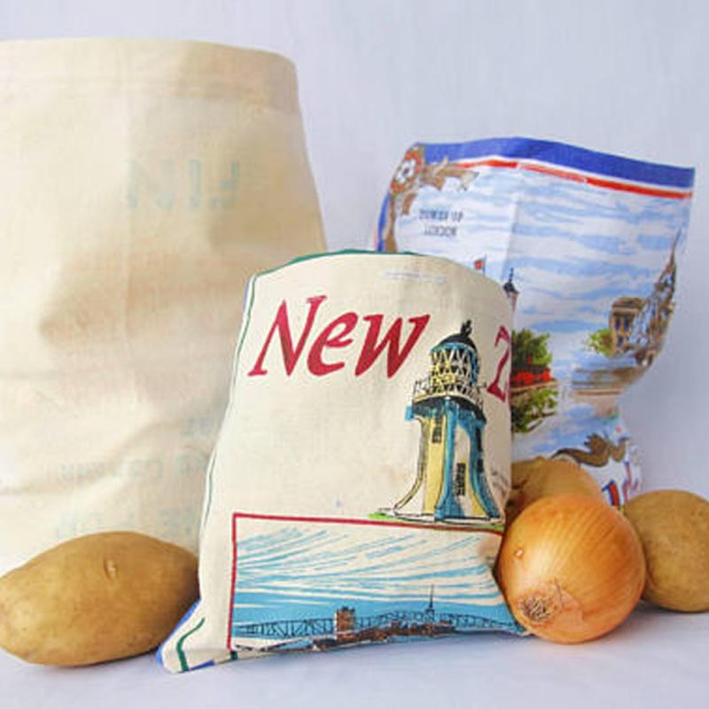 3 pack - small, medium, large, reusable produce bags