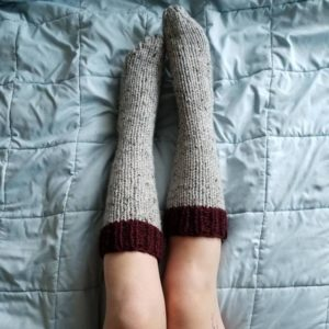 Cozy cottage hand knit boot socks