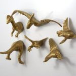 Gold Dinosaur Magnets