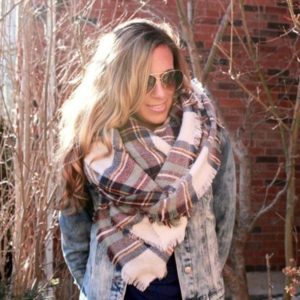 Heather cashmere like blanket scarf