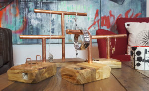handcrafted copper pipe display stands